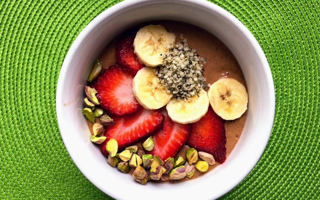 Chocolate, Banana Smoothie Bowl