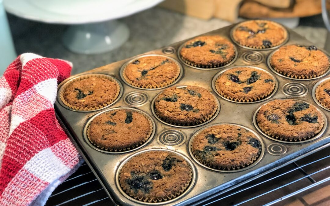 Heart Healthy Blueberry Oat Muffins