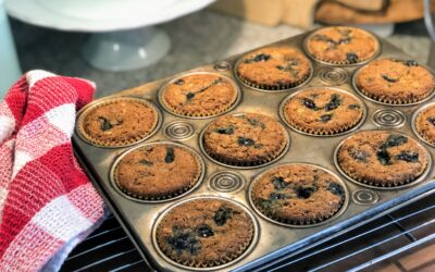 Heart Healthy Blueberry Oat Muffins