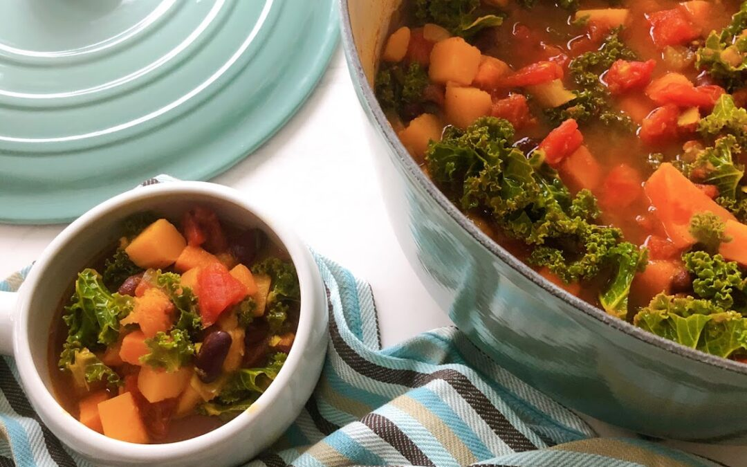 Spicy Squash and Sweet Potato Stew
