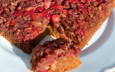 Cranberry Maple Upside Down Cake