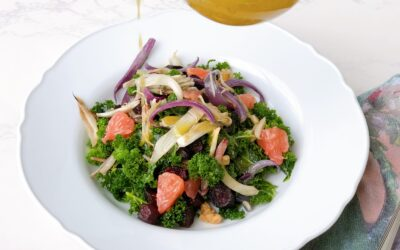 Kale Salad with Roasted Beets, Fennel and Red Onion