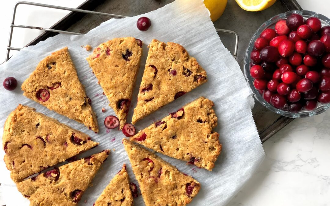 Grain Free Cranberry Lemon Scones